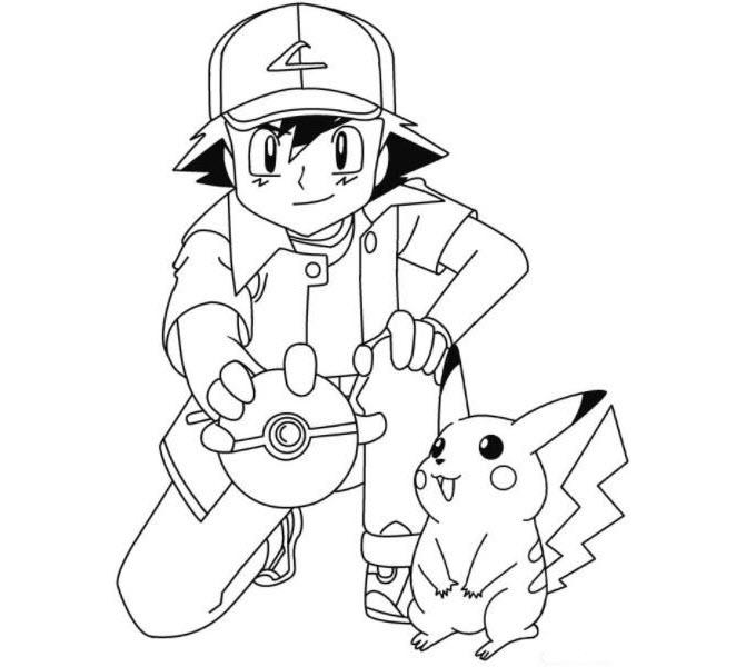 Tranh tô màu pokemon cho bé