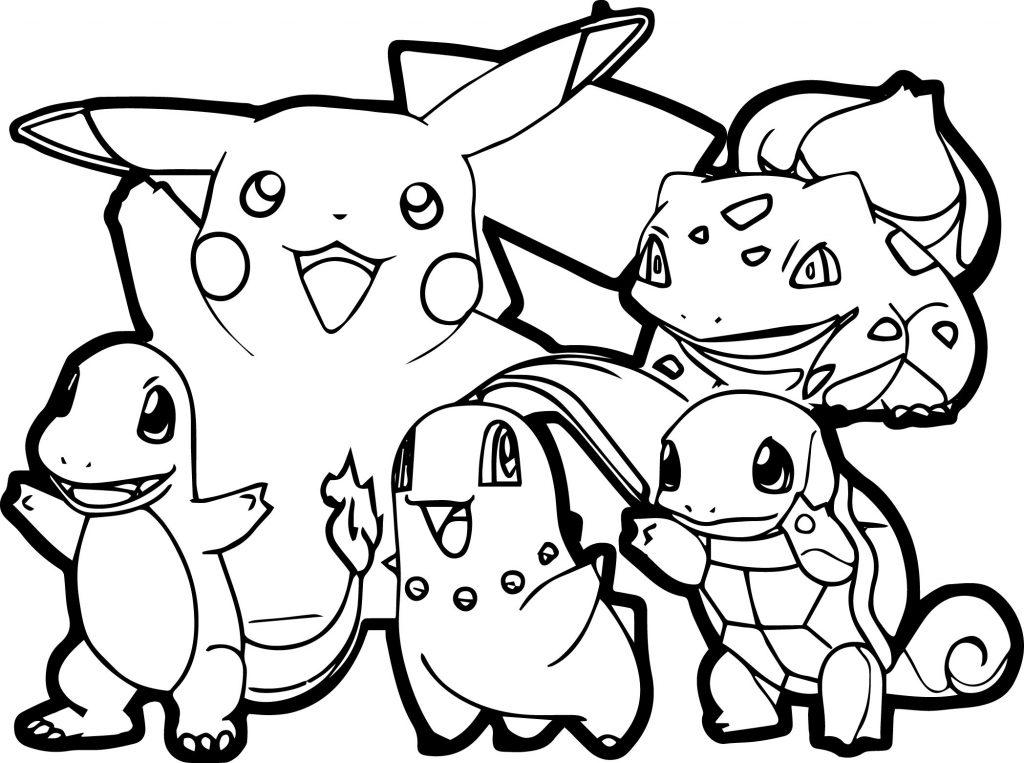 Tranh tô màu pokemon dễ thương