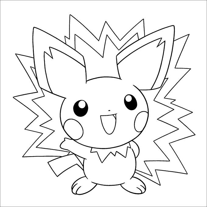 Tranh tô màu pokemon go