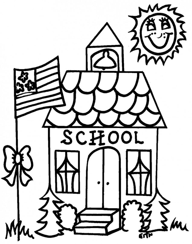 Tranh tô màu trường học