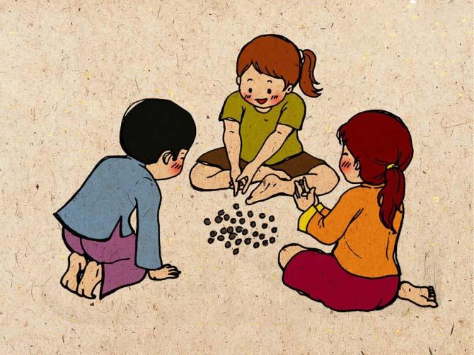 Tranh vẽ đề tài trò chơi dân gian đẹp