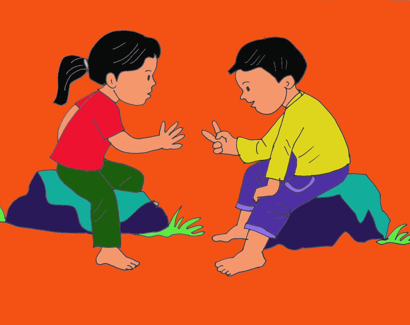 Vẽ tranh trò chơi dân gian của Việt Nam