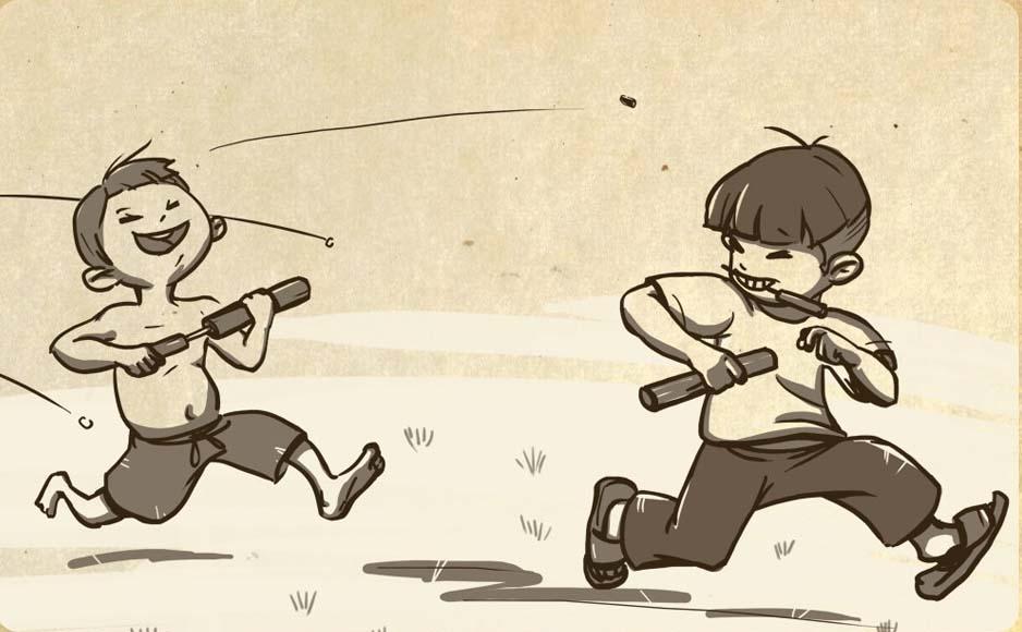 Vẽ tranh về trò chơi dân gian