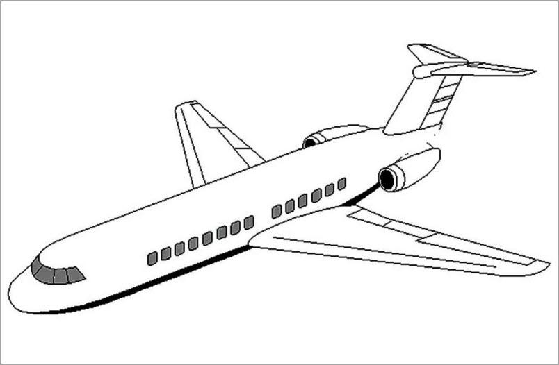 Bé tập tô hình máy bay