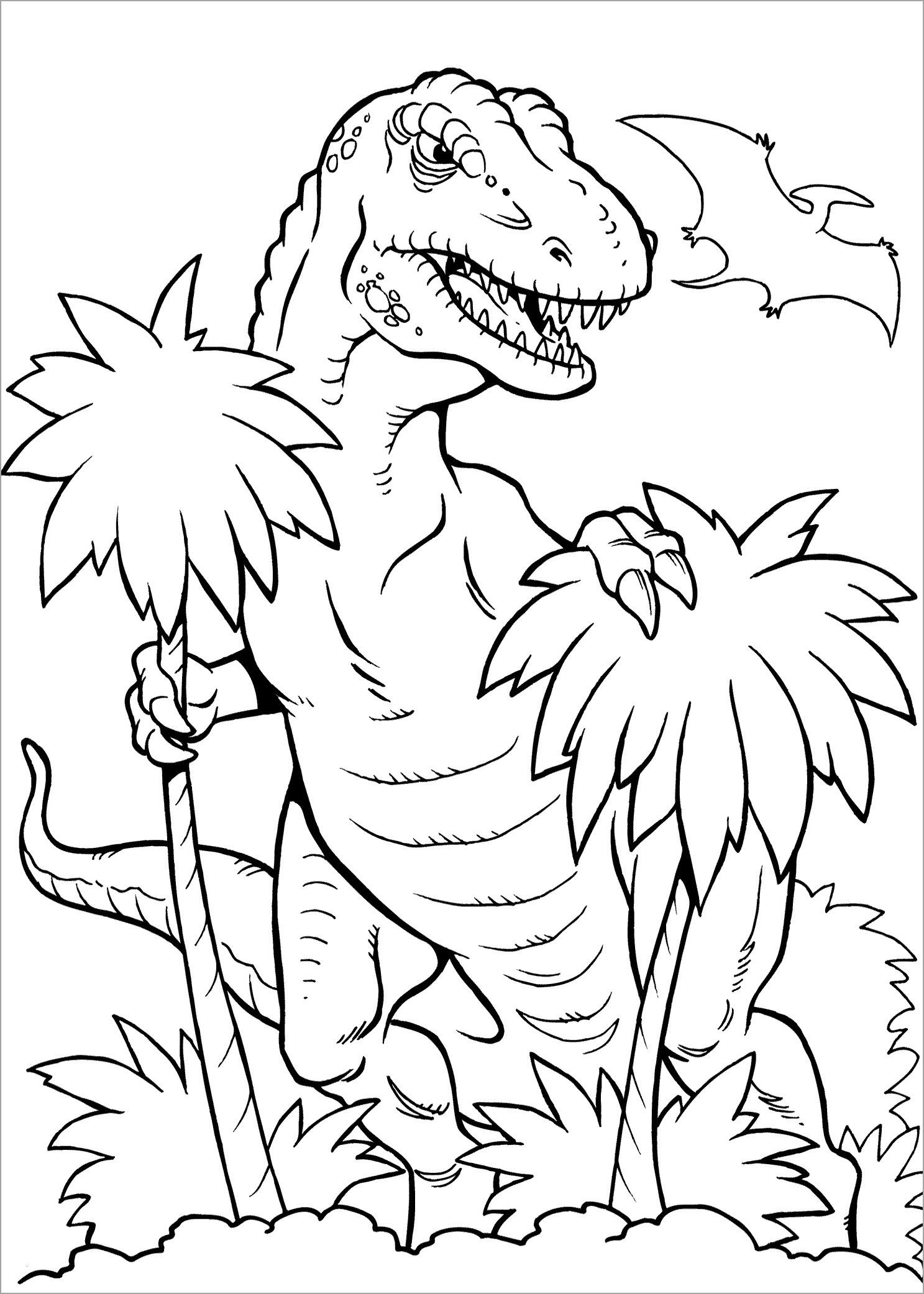 Bé tập tô màu khủng long bạo chúa