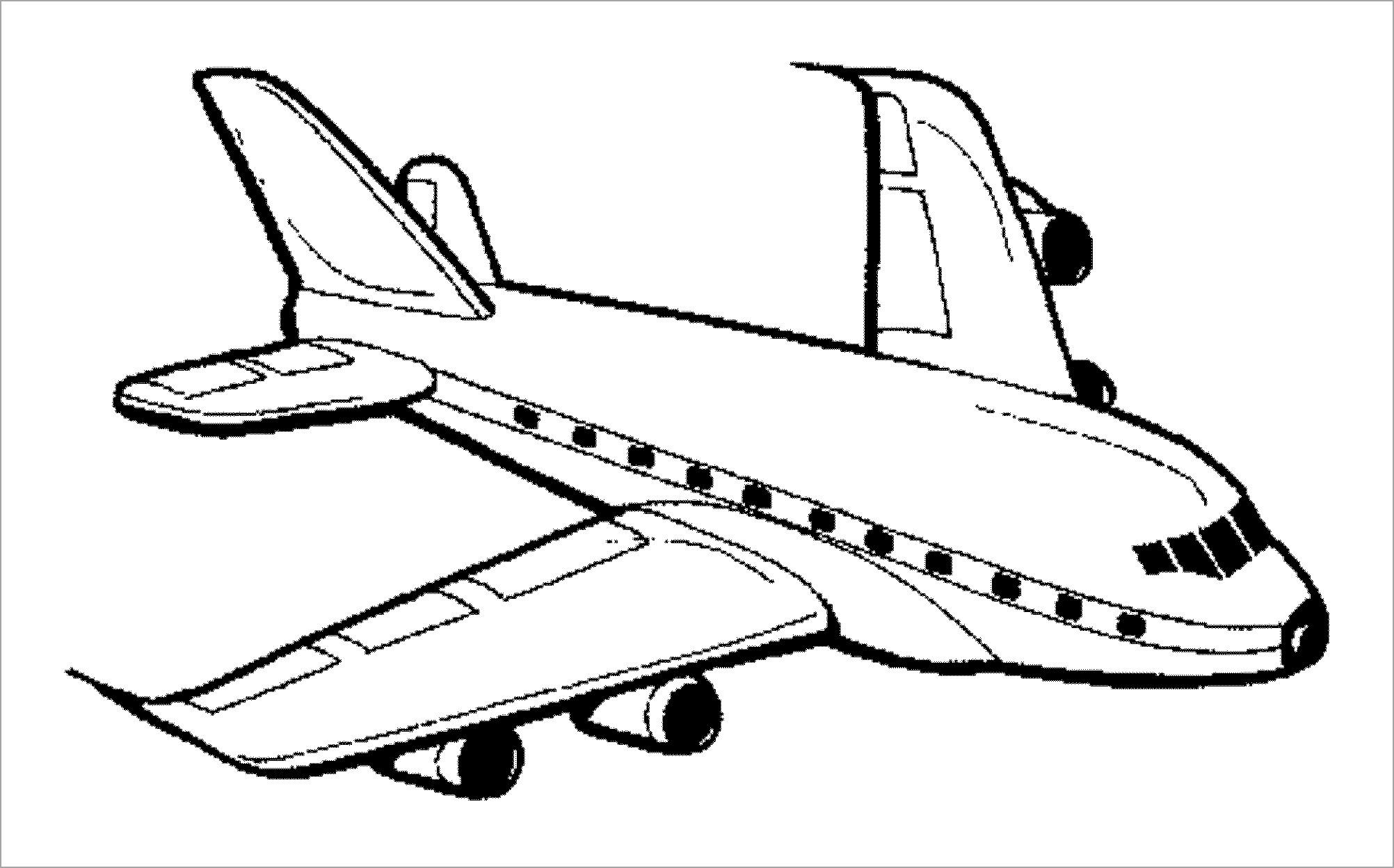 Bé tập tô màu máy bay
