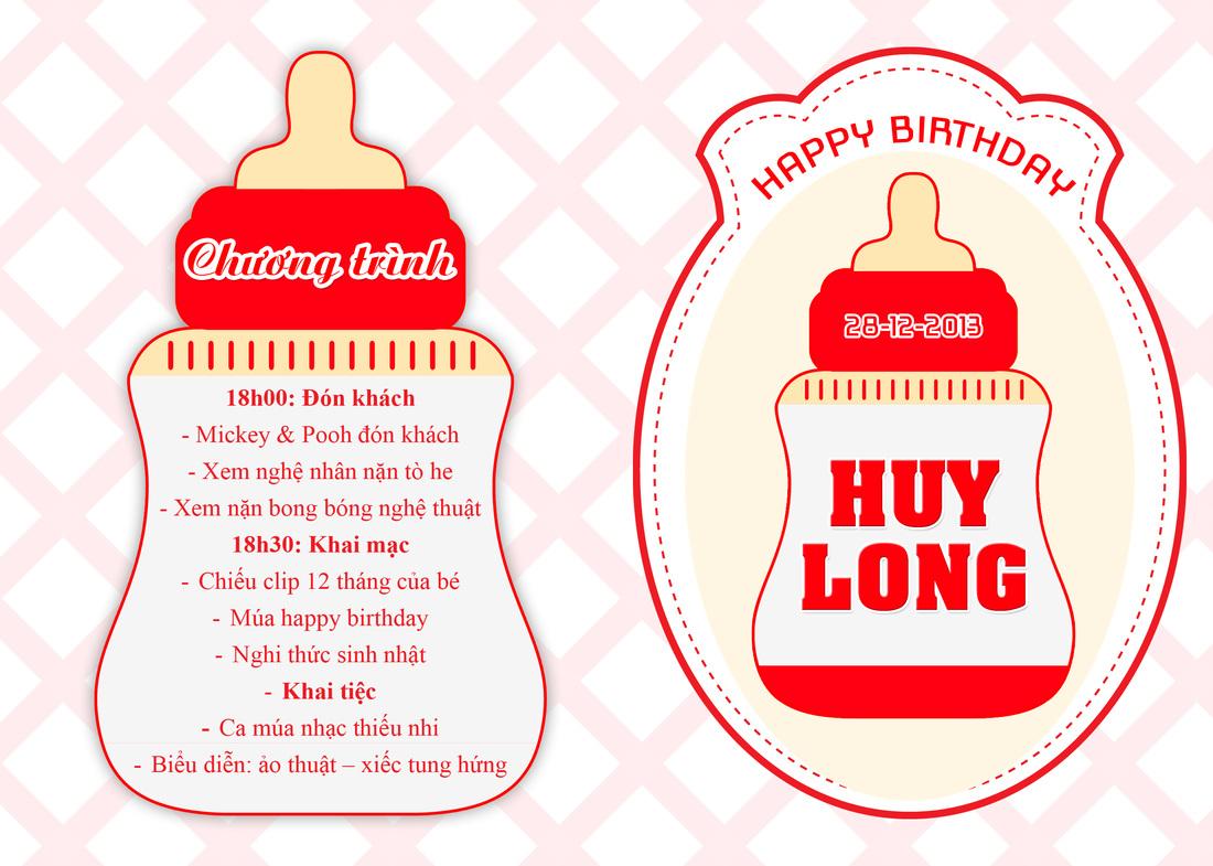 Bìa thiệp mời sinh nhật đẹp