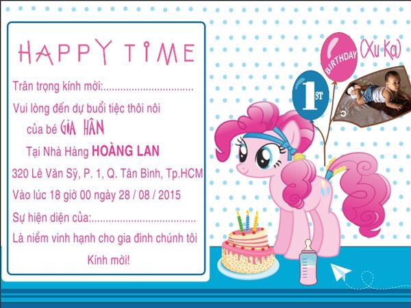 Các mẫu thiệp mời sinh nhật cho bé
