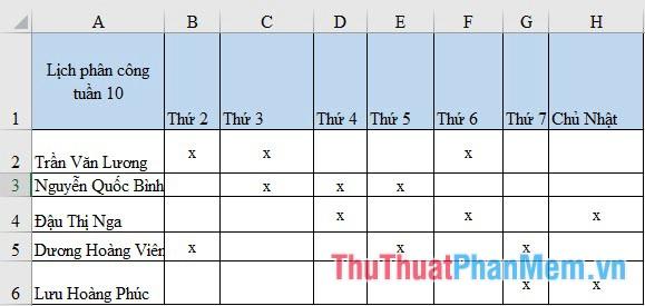 Căn chỉnh dòng và cột trong Excel