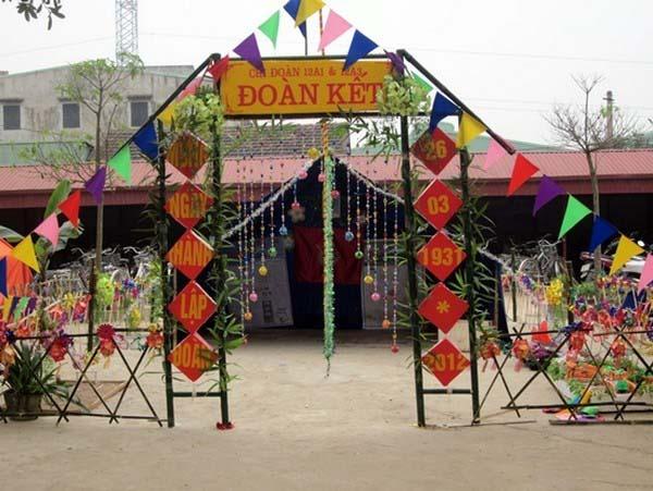 Hình ảnh cổng trại đơn giản