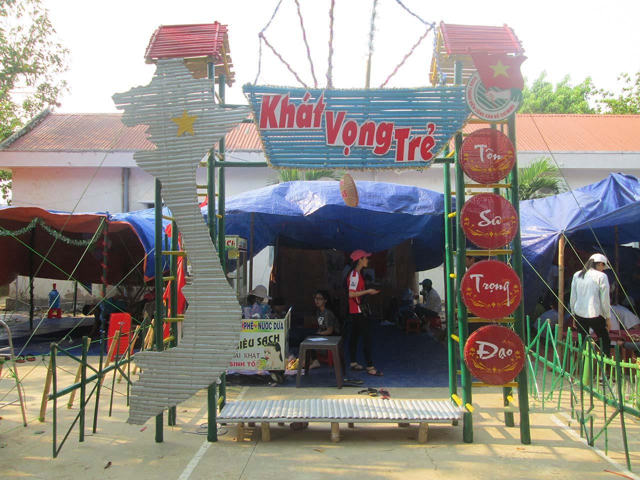 Hình ảnh cổng trại hè học sinh