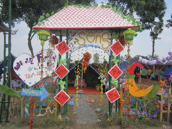 Hình ảnh cổng trại trang trí đẹp