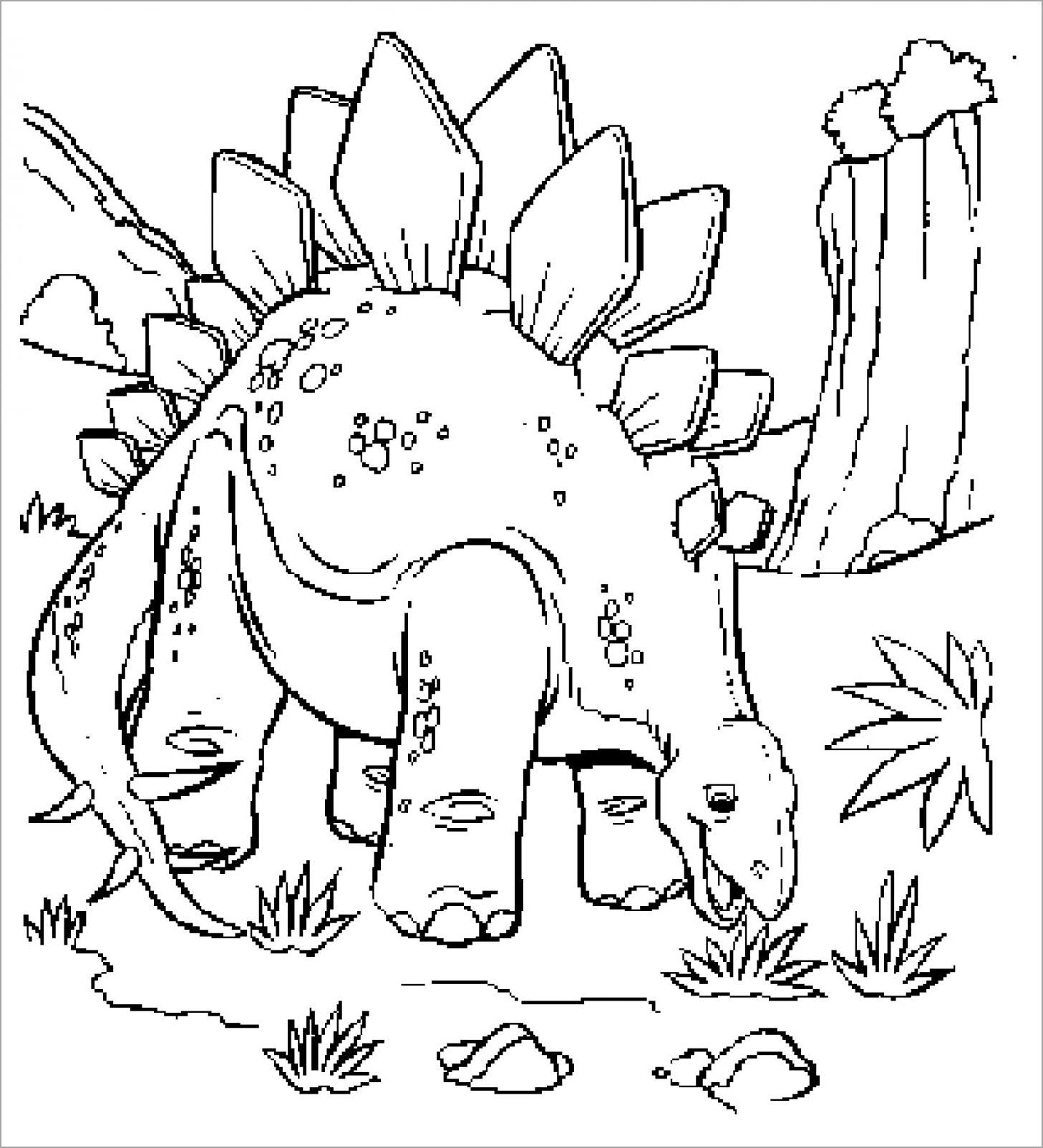 Hình ảnh khủng long cho bé tô màu