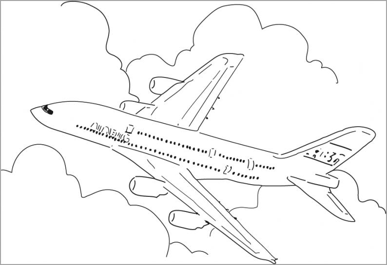 Hình ảnh máy bay tô màu
