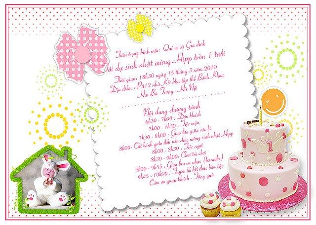 Hình ảnh thiệp mời sinh nhật đẹp