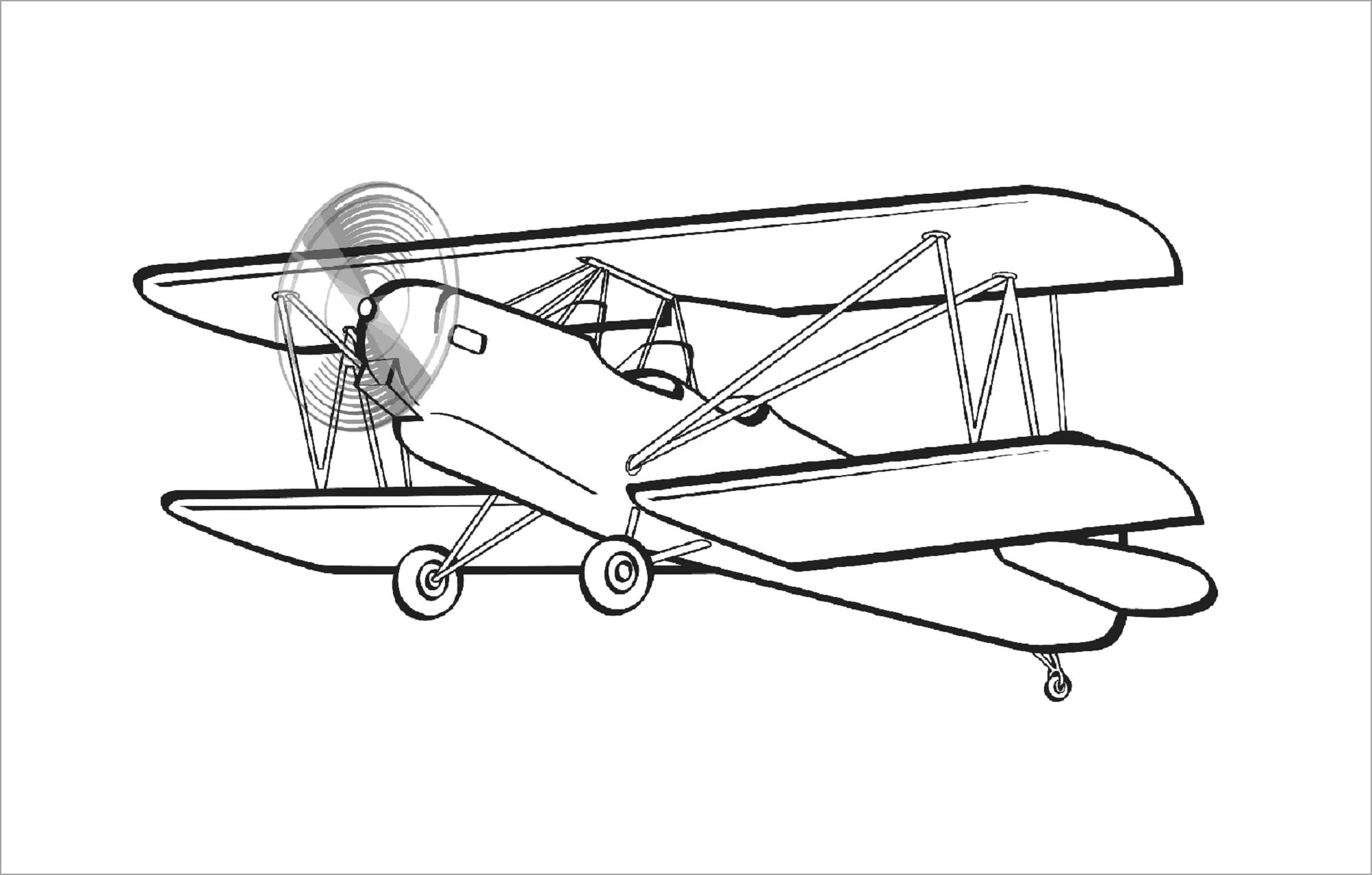 Hình ảnh tô màu máy bay