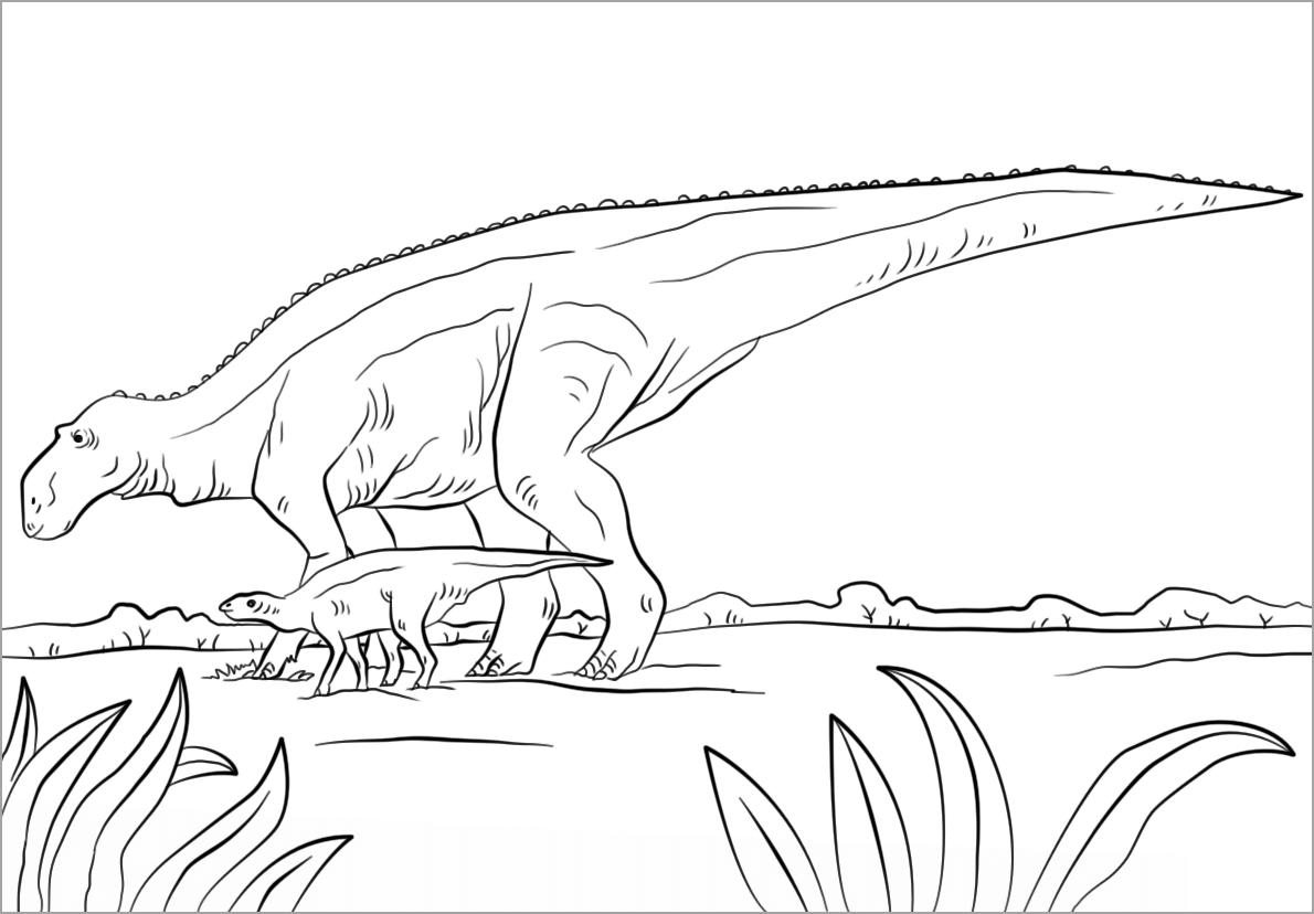 Hình khủng long cho bé tập tô