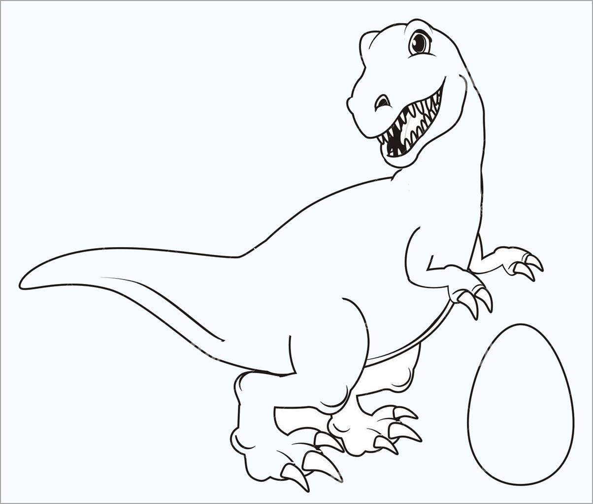 Hình khủng long cho bé tô màu