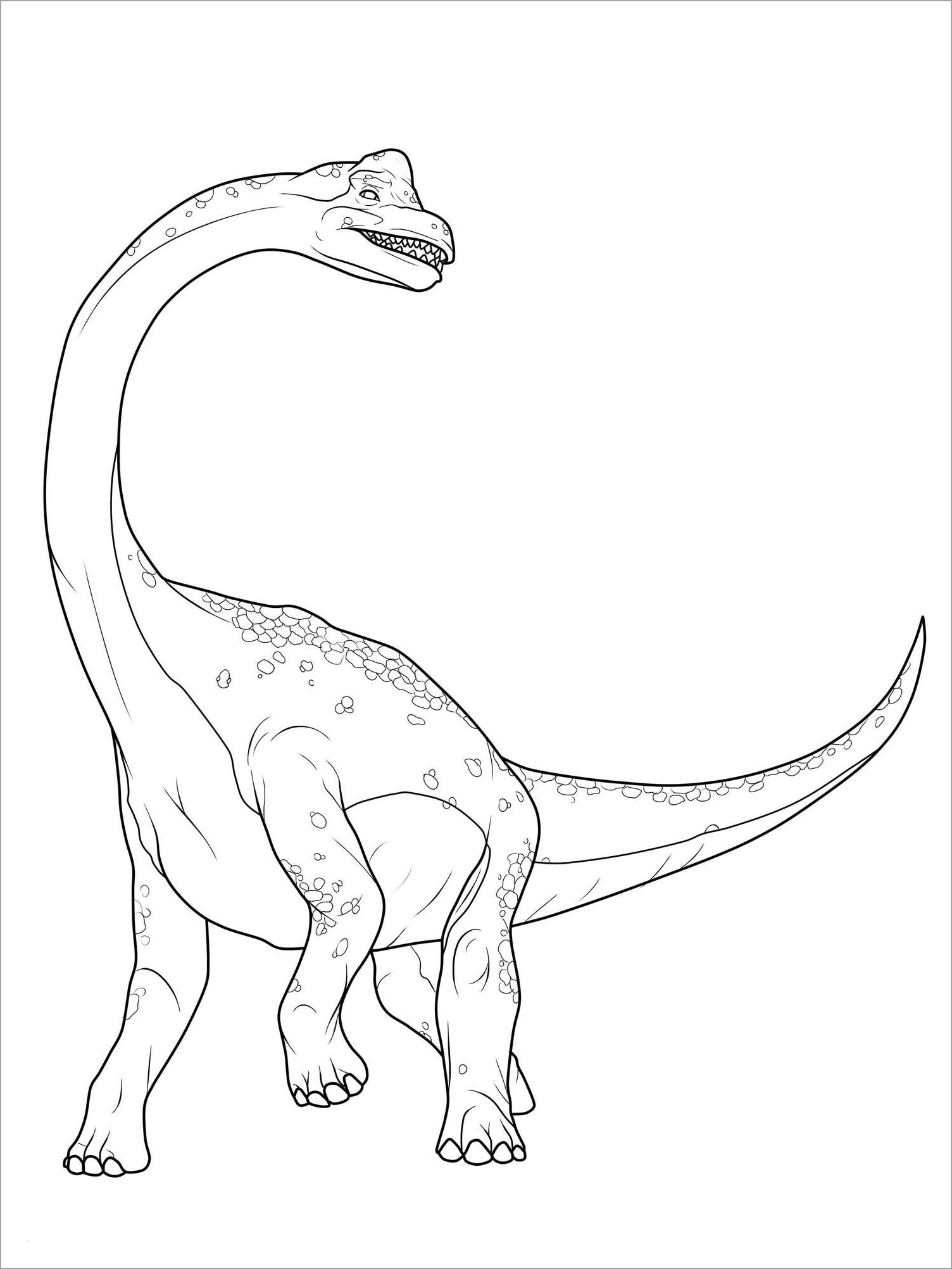 Hình khủng long đẹp nhất cho bé tập tô màu