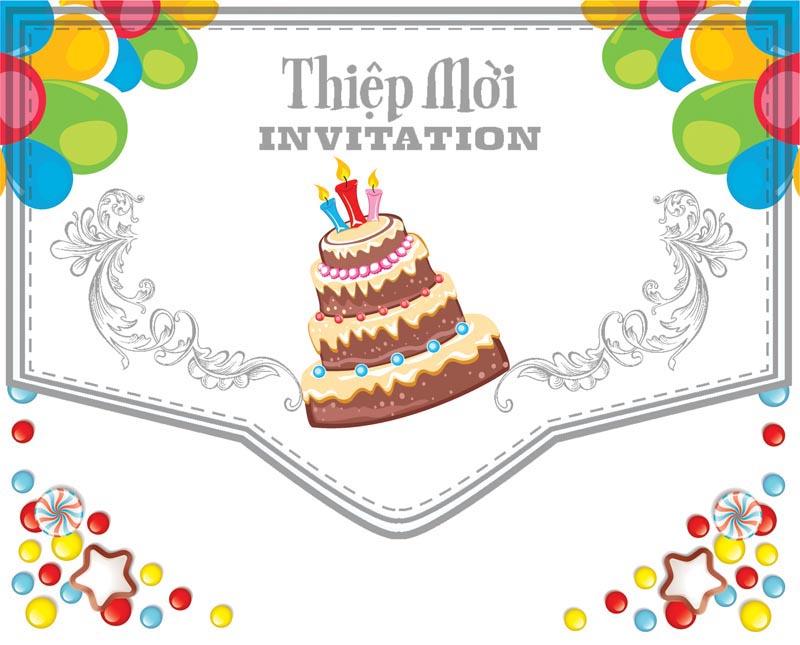 Hình mẫu thiệp mời sinh nhật