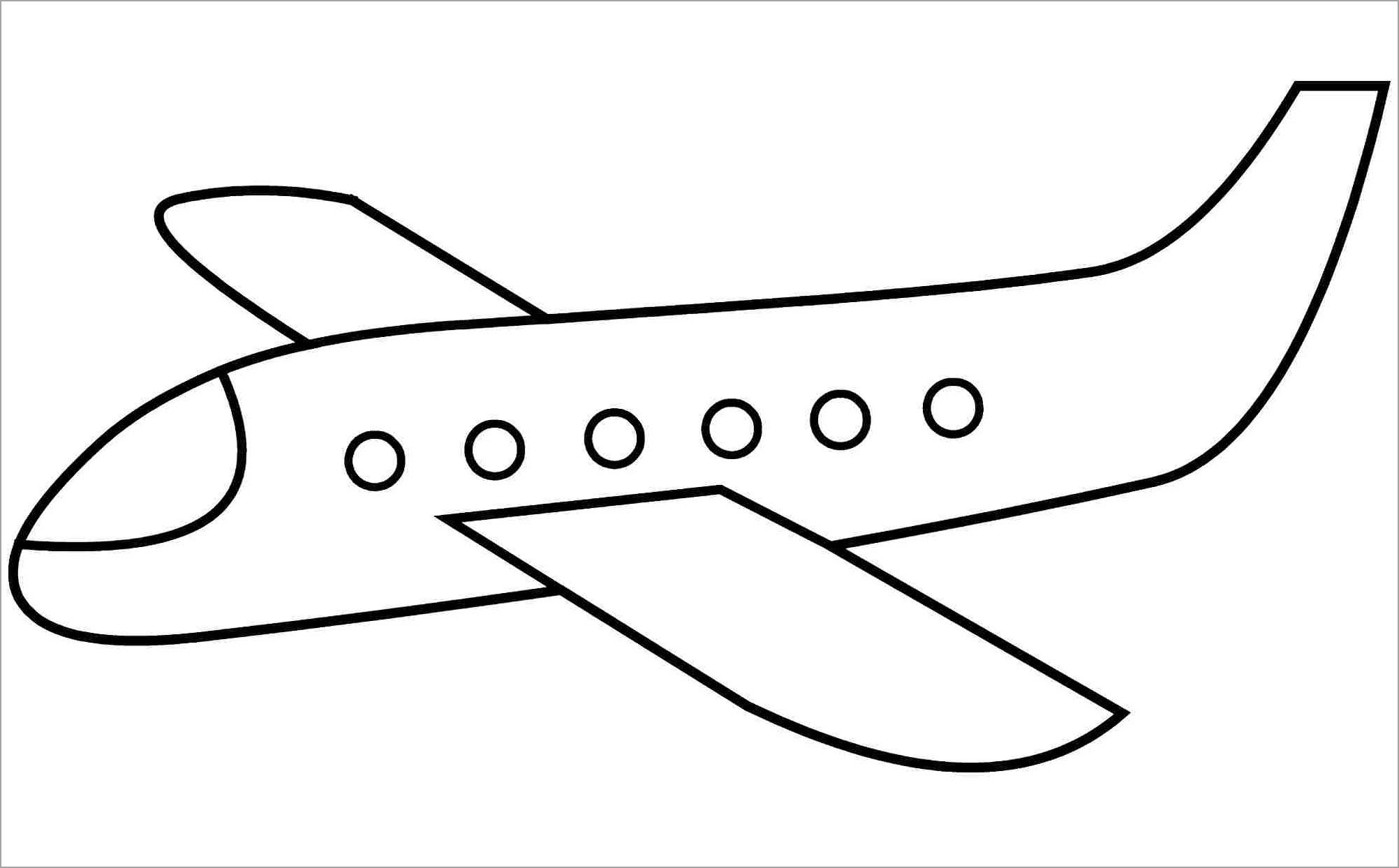 Hình máy bay để tô màu