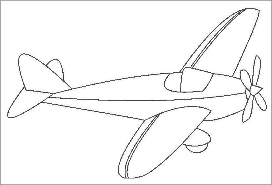 Hình máy bay đẹp cho bé tô màu