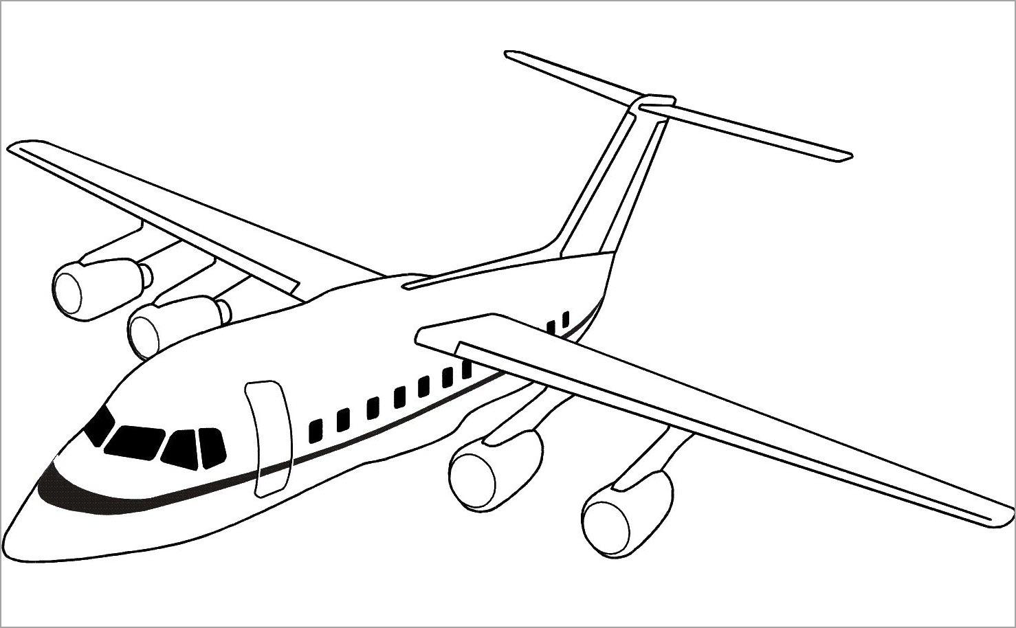 Hình máy bay tô màu