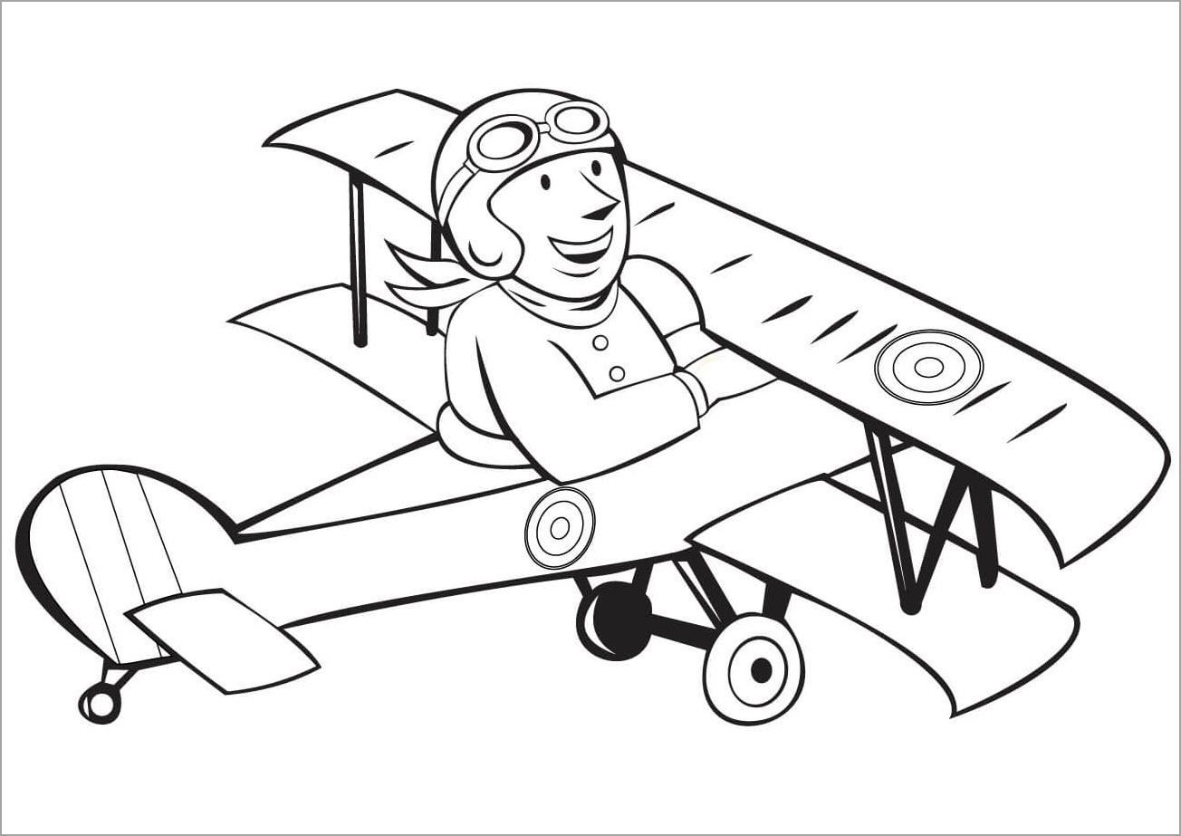 Hình tập tô cho bé chủ đề máy bay