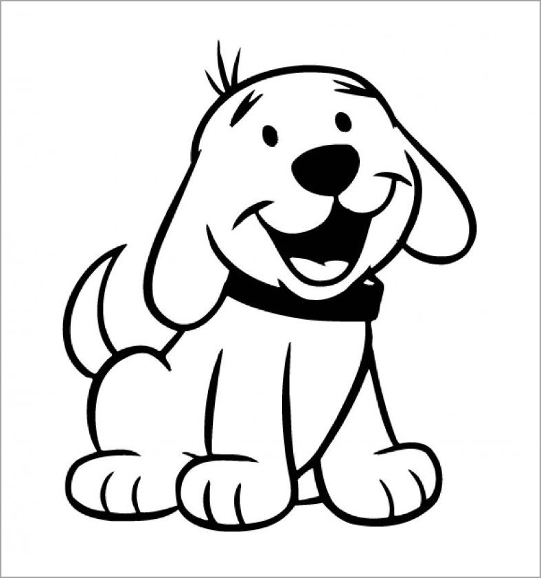 Hình tập tô con chó dễ thương