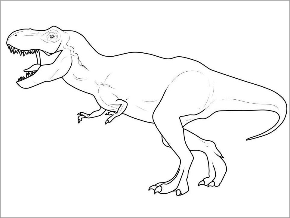 Hình tập tô con khủng long đẹp