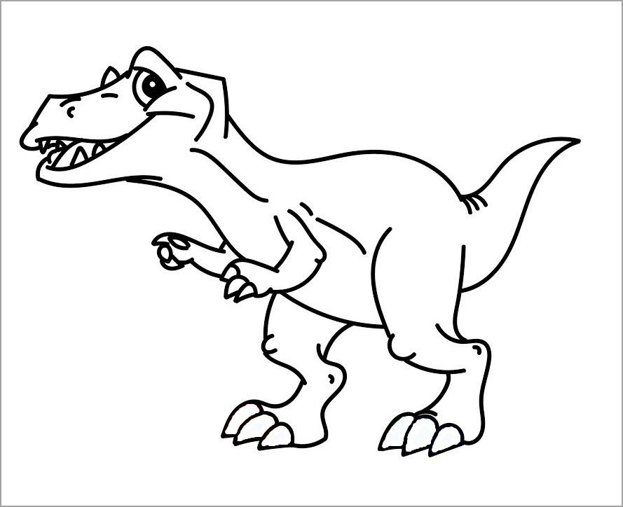Hình tập tô con khủng long