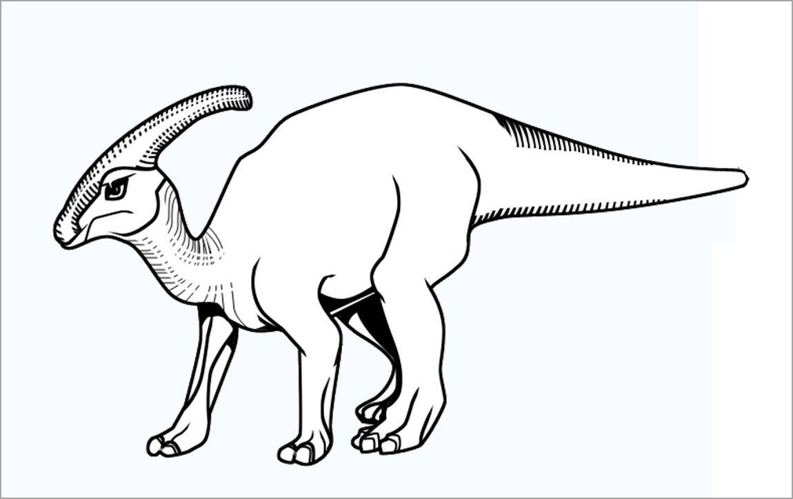 Hình tập tô khủng long cho bé