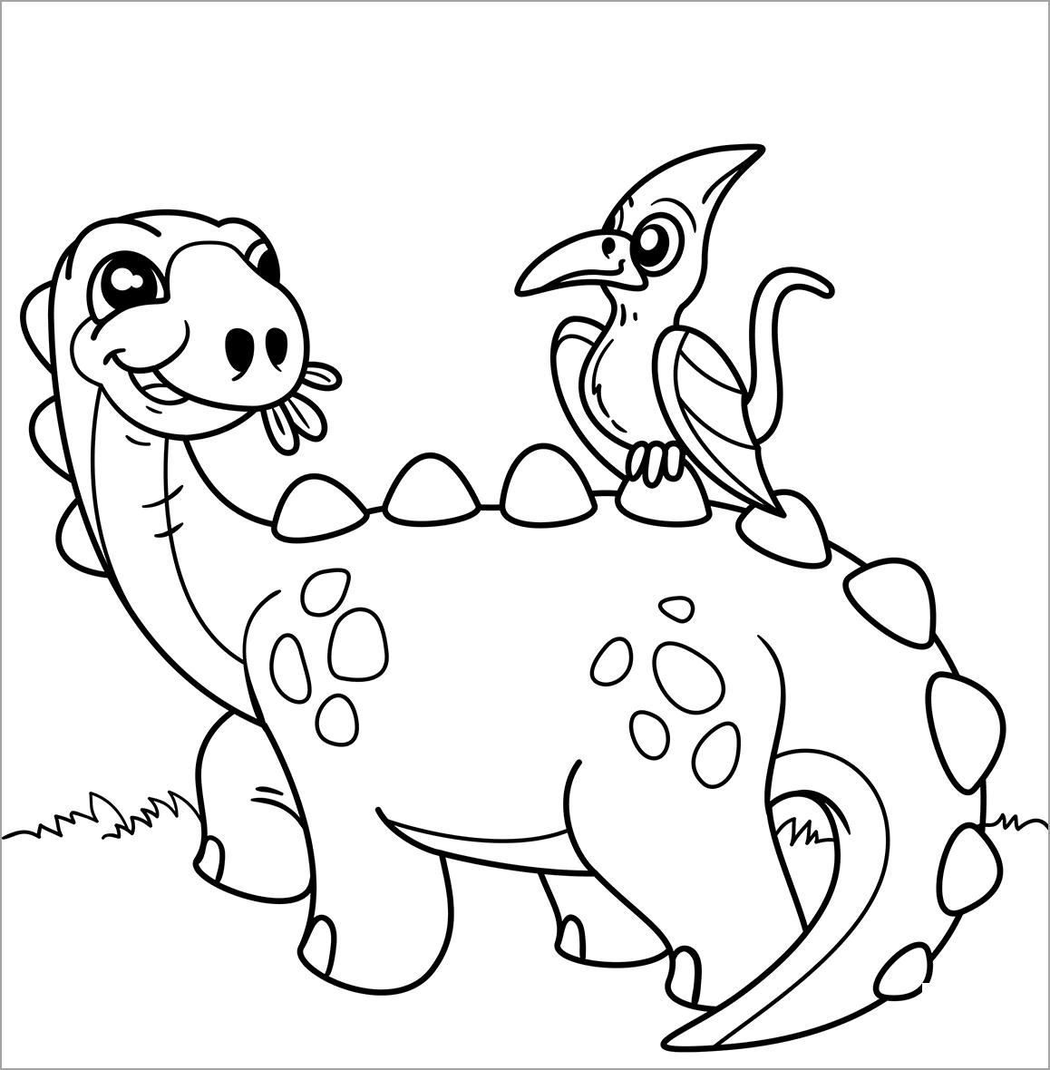 Hình tập tô khủng long dễ thương