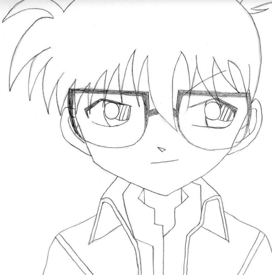 Hình tập tô màu anime conan