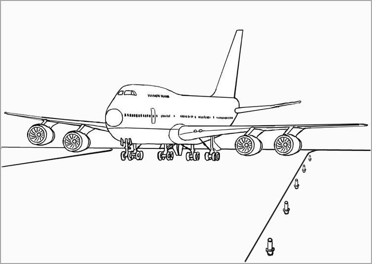 Hình tập tô màu cho bé chủ đề máy bay