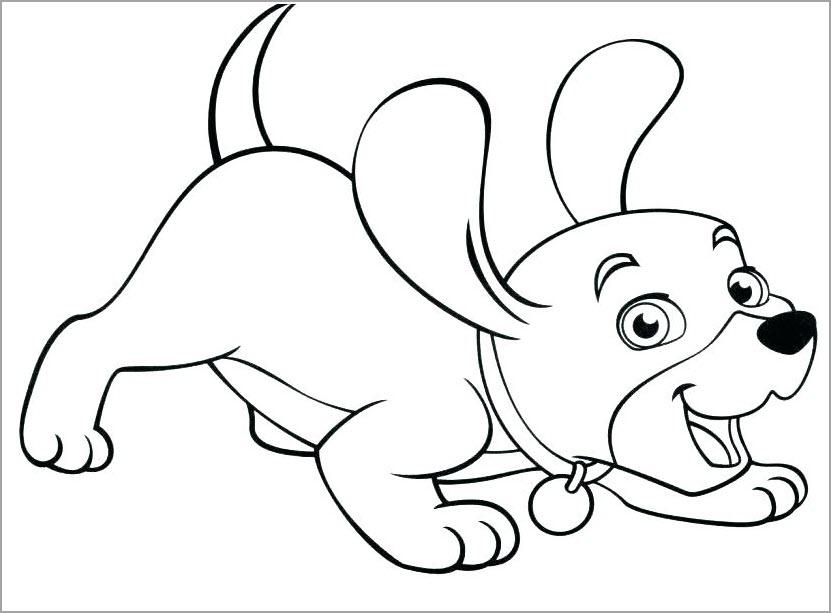 Hình tập tô màu chủ đề con chó