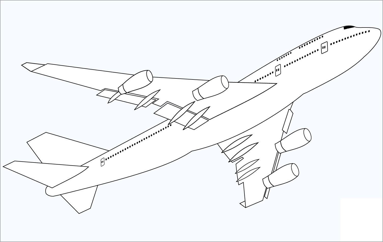Hình tập tô màu chủ đề máy bay