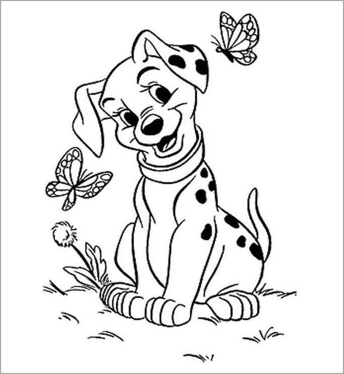 Hình tập tô màu con chó