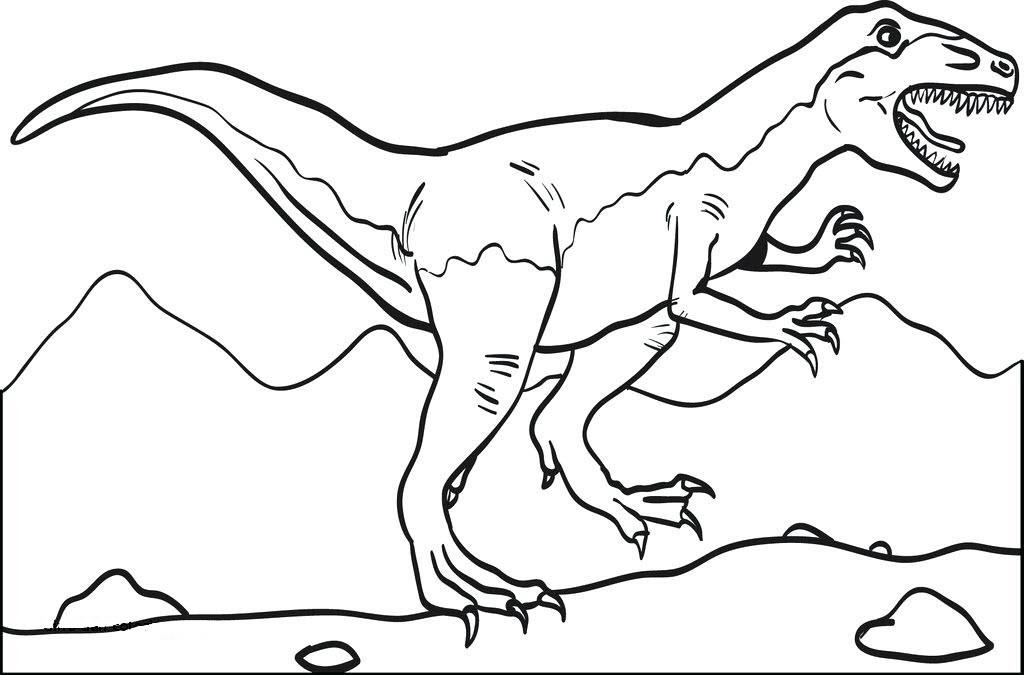 Hình tập tô màu khủng long cao lớn