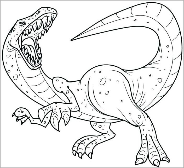 Hình tập tô màu khủng long cho bé
