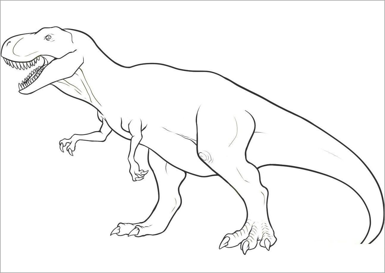 Hình tập tô màu khủng long đẹp