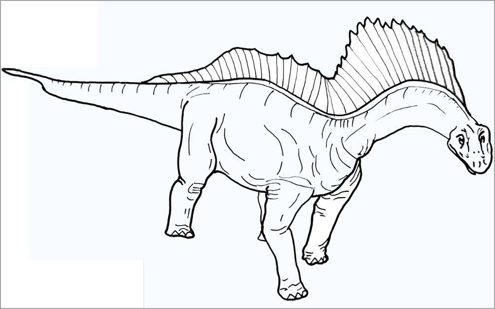 Hình tập tô màu khủng long