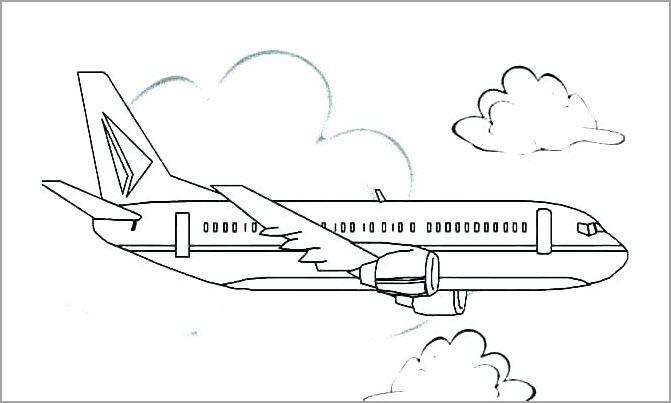 Hình tập tô màu máy bay cho bé
