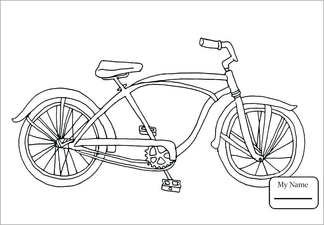 Hình tập tô màu xe đạp