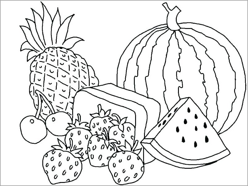 Hình tô màu các loại trái cây đẹp