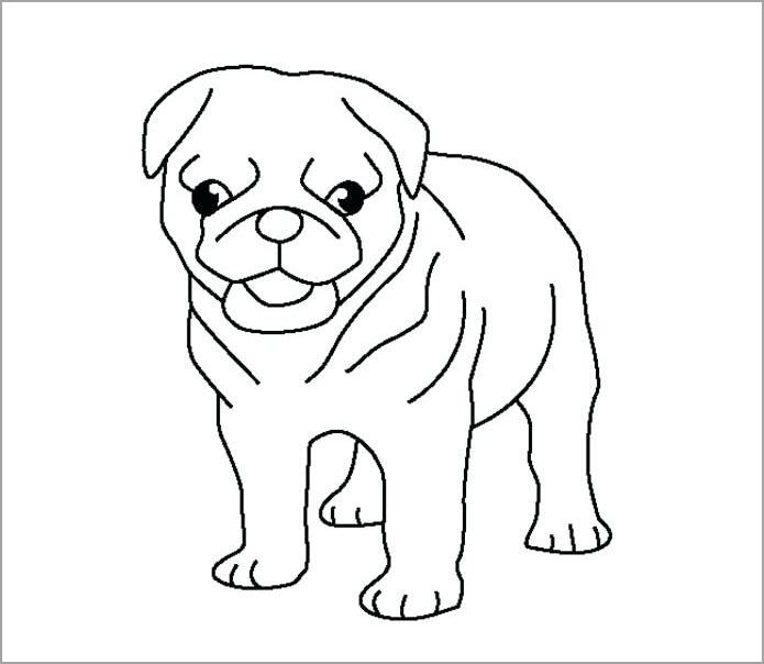 Hình tô màu cho bé chủ đề con chó