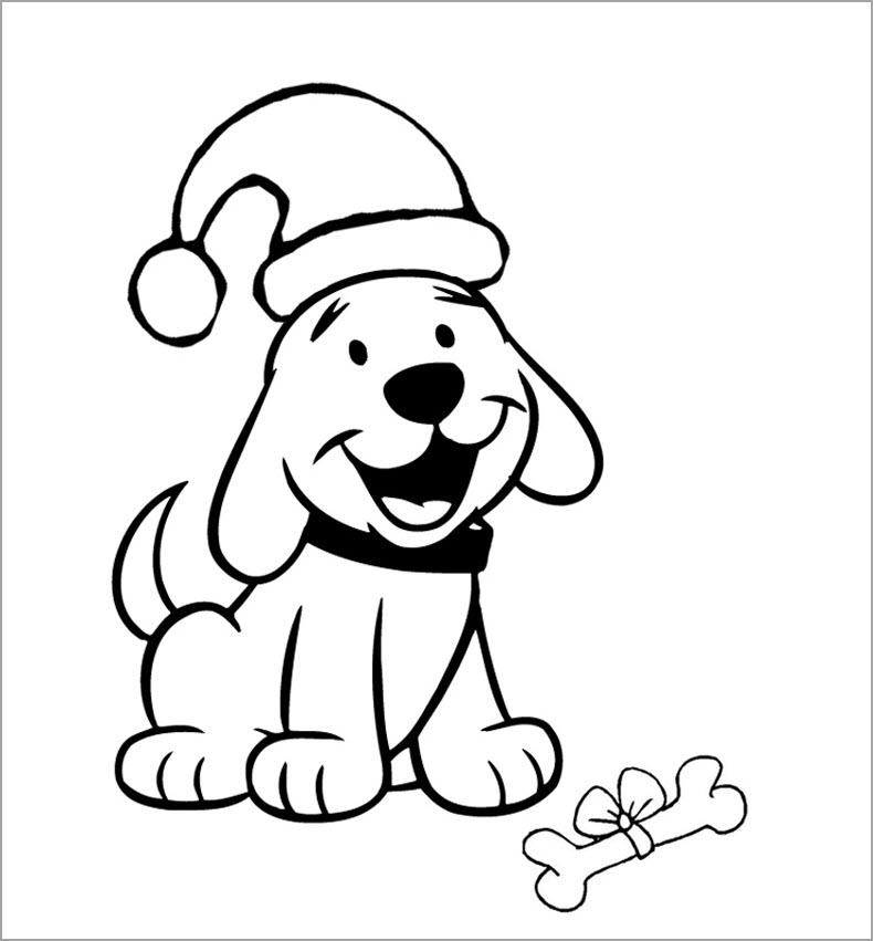Hình tô màu chủ để con chó