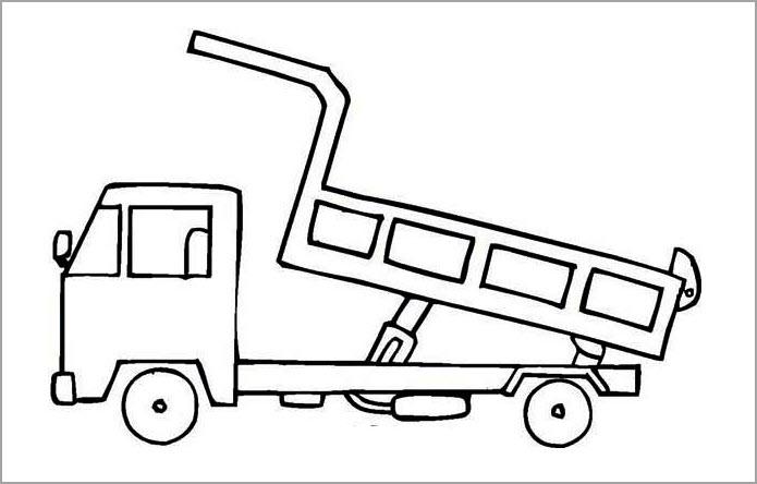 Hình tô màu chủ đề phương tiện giao thông cho bé