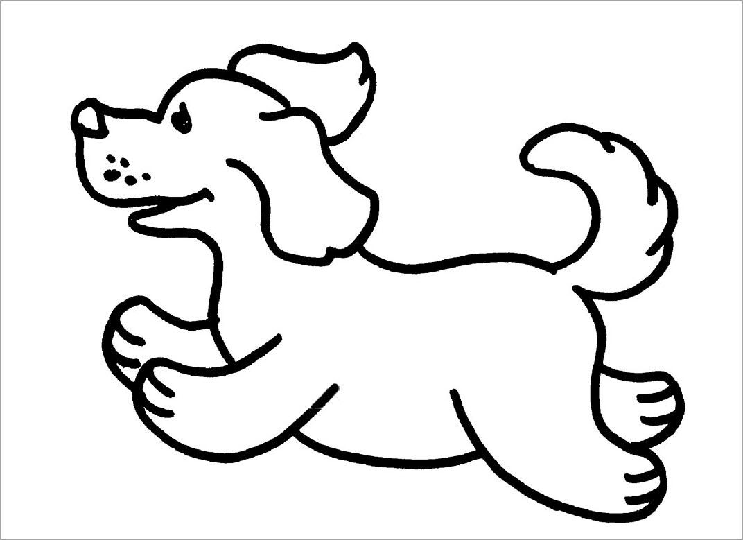 Hình tô màu con chó cho bé tập tô