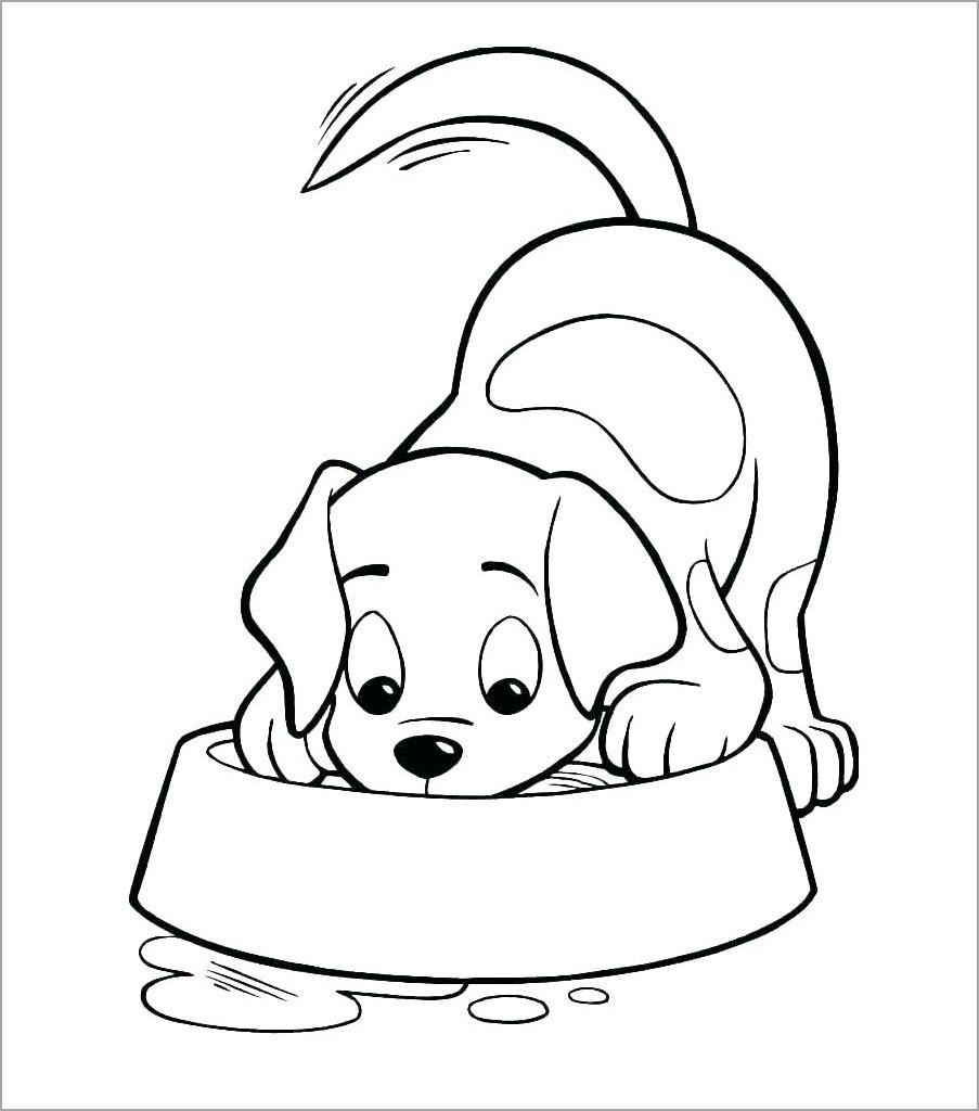 Hình tô màu con chó cho bé
